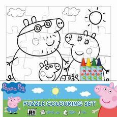 Colouring puzzle sets Peppa Pig