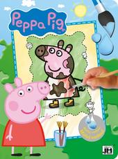Paint with water color. books Peppa Pig