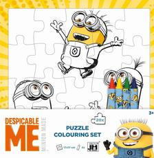 Colouring puzzle sets Minions