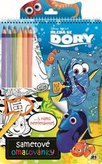 Velvet colouring books Finding Dory