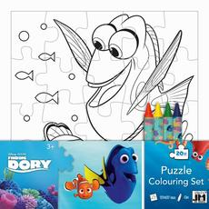 Colouring puzzle sets Finding Dory