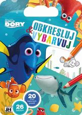 Colouring pads with stencils Finding Dory