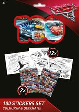 100 stickers holograph sets Cars