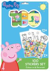 100 stickers holograph sets Peppa Pig