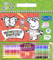 Colouring stickers set Peppa Pig