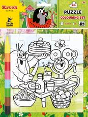 Colouring puzzle sets The Little Mole