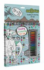 Colouring book w gel pens Dinosaurs