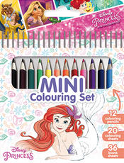Mini book with colour pencils Disney Princess