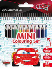 Mini book with colour pencils Cars