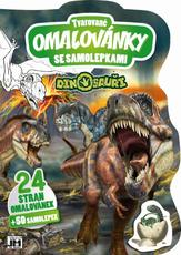 Shaped colouring books Dinosaurs