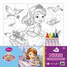 Colouring puzzle sets Sofia the First