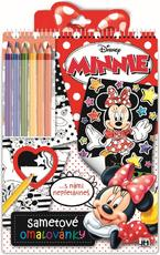 Velvet colouring books Minnie