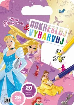 Colouring pads with stencils Disney Princess