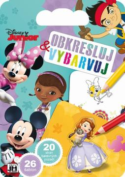 Colouring pads with stencils Disney Junior