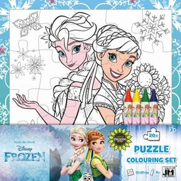 Colouring puzzle sets Frozen