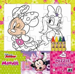 Colouring puzzle sets Minnie