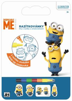 Stamping and colouring Minions