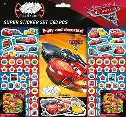 Super sticker sets 500 pcs Cars