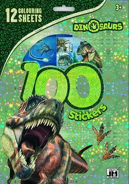 100 stickers holograph sets Dinosaurs