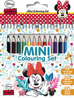 Mini book with colour pencils Minnie