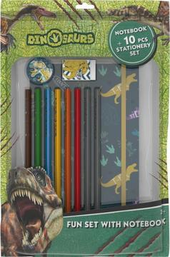 Fun packs with notepad Dinosaurs