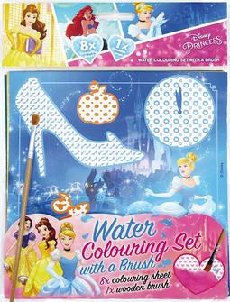 Water colouring set with a bru Disney Princess