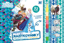 Stamping and colouring Frozen