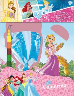 Colouring 3D puzzle set Disney Princess